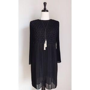 Topshop Chiffon Diamond Pleat Dress
